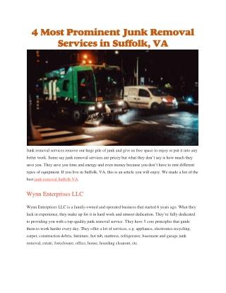 Junk removal Suffolk VA