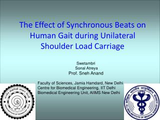 The Effect of Synchronous Beats on Human Gait during Unilateral Shoulder Load Carriage