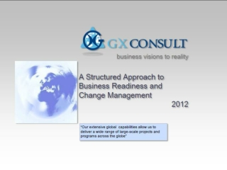 GXC Advisory Board Business Change Management and Business R