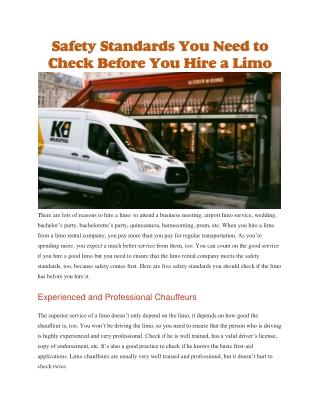 Limo bus company