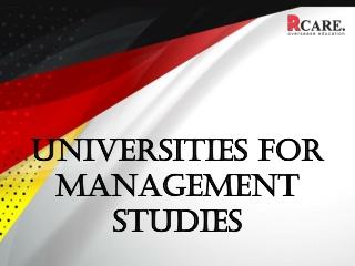 Universities For Managements Studies