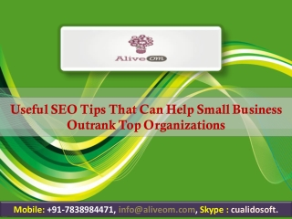 Useful SEO Tips That Can Help Small Business Outrank Top Organizations
