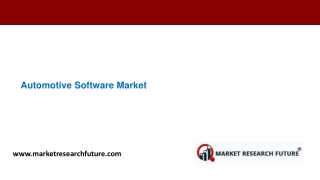 Automotive Software Market Analysis