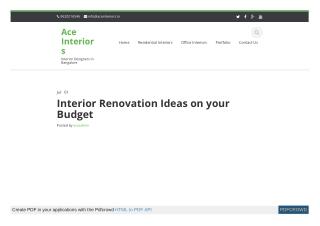 Interior Renovation Ideas on your Budget