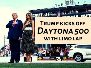 Trump kicks off Daytona 500 with limo lap