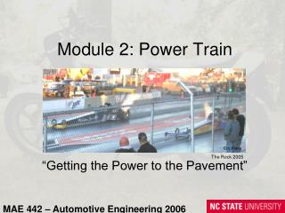 Module 2: Power Train