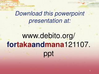 Download this powerpoint presentation at: