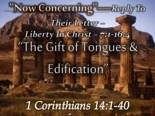 1 Corinthians 14:1-40