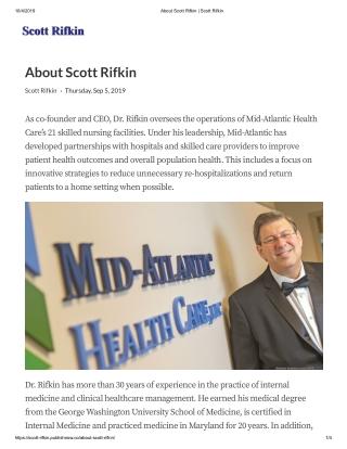 About Scott Rifkin