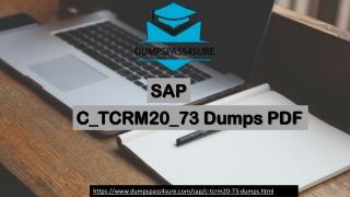 SAP C_TCRM20_73 Exam Preparation Material For Best Result | Dumpspass4sure.com