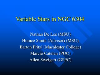 Variable Stars in NGC 6304