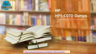 HP HP5-C07D  Online Test Engine - 100% Money Back Assurance | Dumpspass4sure.com