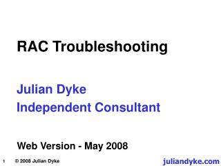 Julian Dyke Independent Consultant