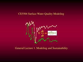 General Lecture 1. Modeling and Sustainability