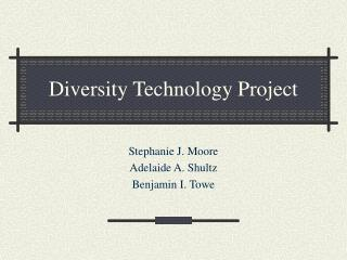 Diversity Technology Project