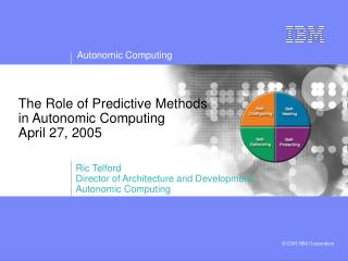 The Role of Predictive Methods in Autonomic Computing April 27, 2005