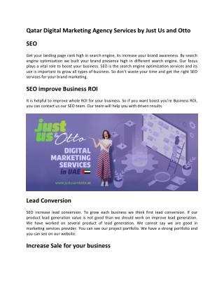 Qatar Digital Marketing Agency Services