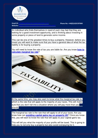 What is tax liability?