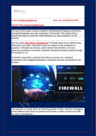 What is a firewall in networking?