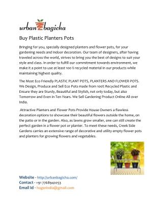 buy online plastic planters pots in pune