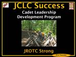 JCLC Success  Cadet Leadership Development Program