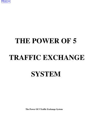 Power of 5 TE System