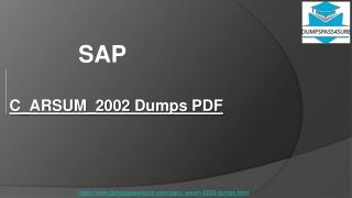 SAP C_ARSUM_2002 Practice Test Questions~ Unique and the Most Challenging | DumpsPass4sure