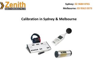 Calibration in Sydney & Melbourne