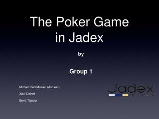 The Poker Game in Jadex