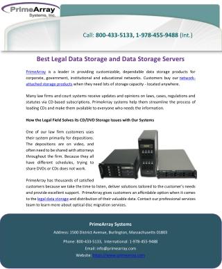 Best Legal Data Storage and Data Storage Servers