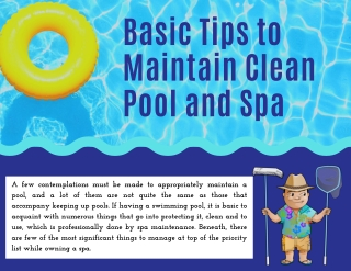 Basic Tips to Maintain Clean Pool and Spa