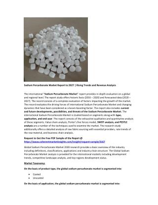 Sodium Percarbonate Market