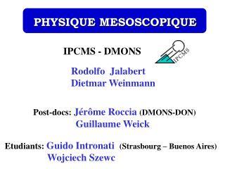 IPCMS - DMONS