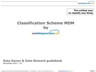 Data Owner & Data Steward guidebook November 2011 – V1
