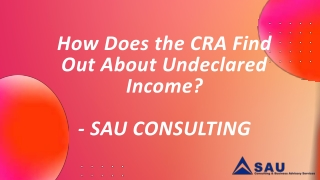 CRA Tax Assessments & Tax Appeals - SAU Consulting