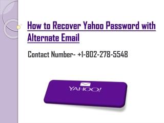 How Do I Recover My Yahoo Password?