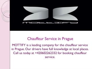Chauffeur Service in Prague