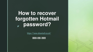 How to recover forgotten Hotmail password?