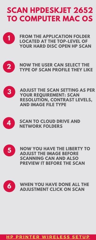 Scan Hp Deskjet 2652 to Computer Mac OS