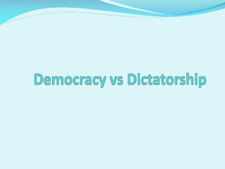 Democracy vs Dictatorship by Maqdoor Ahmad
