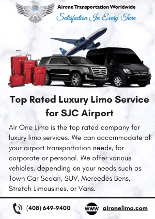 Top Rated Luxury Limo Service for SJC Airport