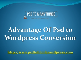 Avantage of psd to wordpress conversion