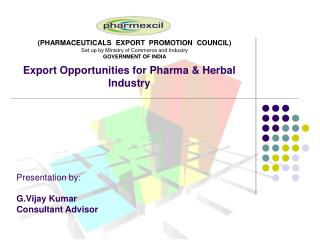 Export Opportunities for Pharma & Herbal Industry