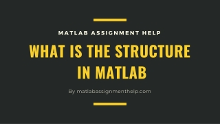 What is The Structure in Matlab with Suitable Examples