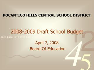 2008-2009 Draft School Budget