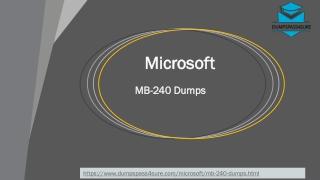 Latest Microsoft MB-240 Dumps PDF ~ Secret Of Success| DumpsPass4sure