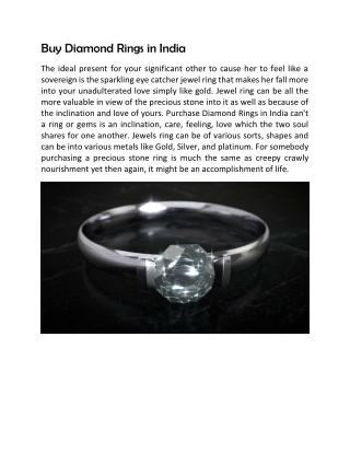 Buy Diamond Rings in India