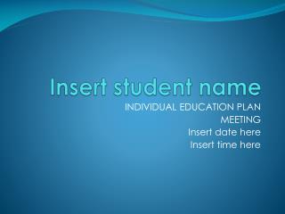 Insert student name