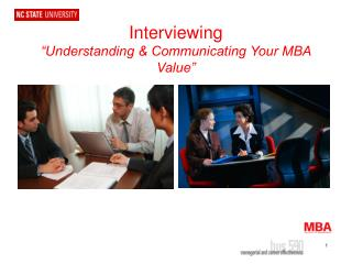 "Interviewing ""Understanding & Communicating Your MBA Value"""