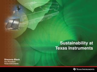 Sustainability at Texas Instruments